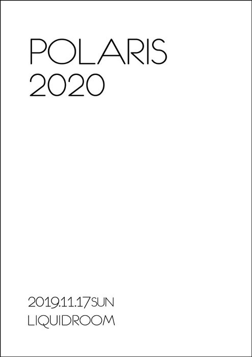 『Polaris One Man Live「2020」』チラシビジュアル