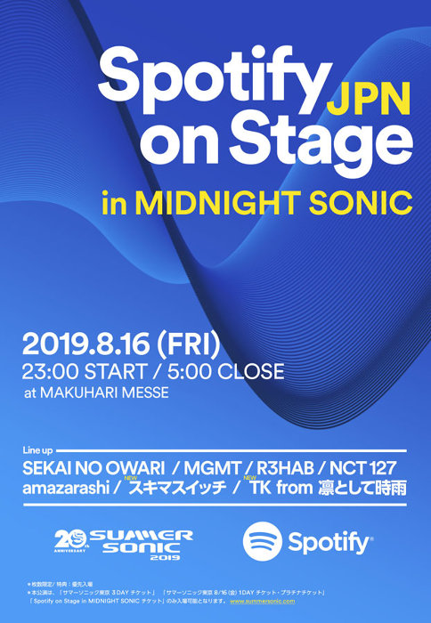『Spotify on Stage in MIDNIGHT SONIC』出演者一覧