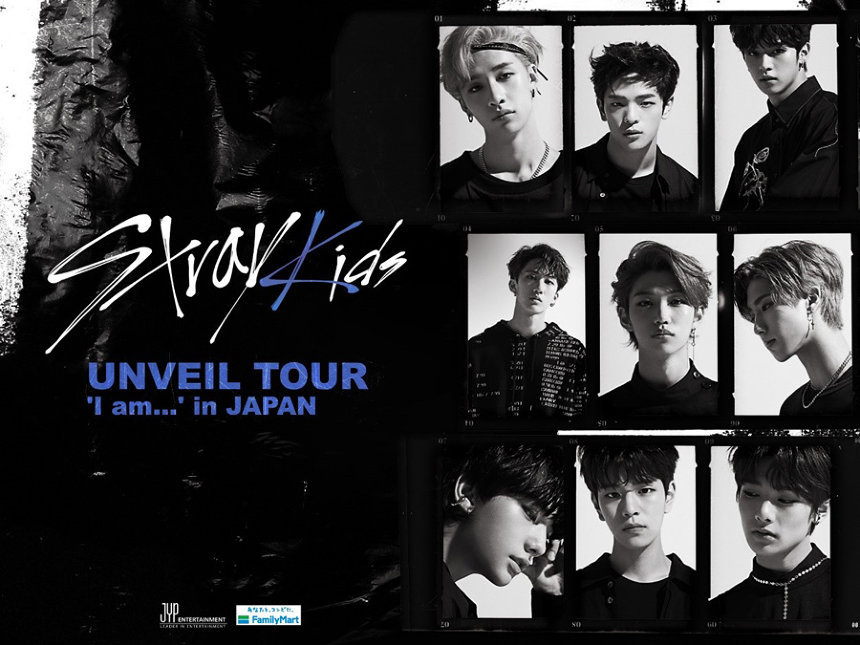 Stray Kids『UNVEIL TOUR'I am…'in JAPAN』ビジュアル