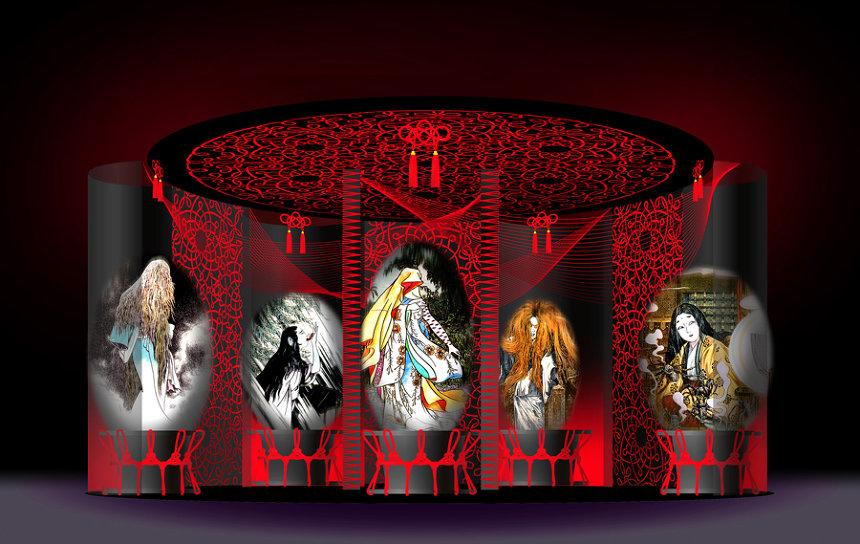 「女妖怪の棲む城」イメージビジュアル ©水木プロダクション