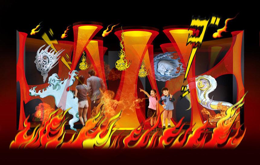 「火炎の洞窟」イメージビジュアル ©水木プロダクション