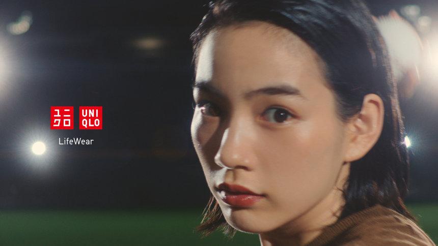 ユニクロ「カーブパンツ」テレビCM キービジュアル
