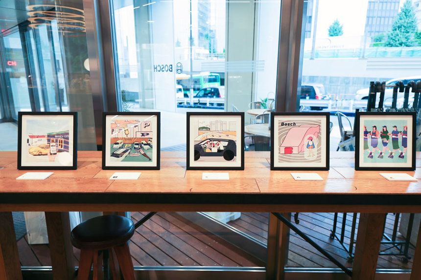 『ボッシュと10名のイラストレーター展』会場内イメージ