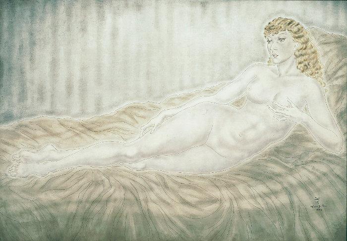 『横たわる裸婦(マドレーヌ)』1932年 油彩・絹 69×99cm