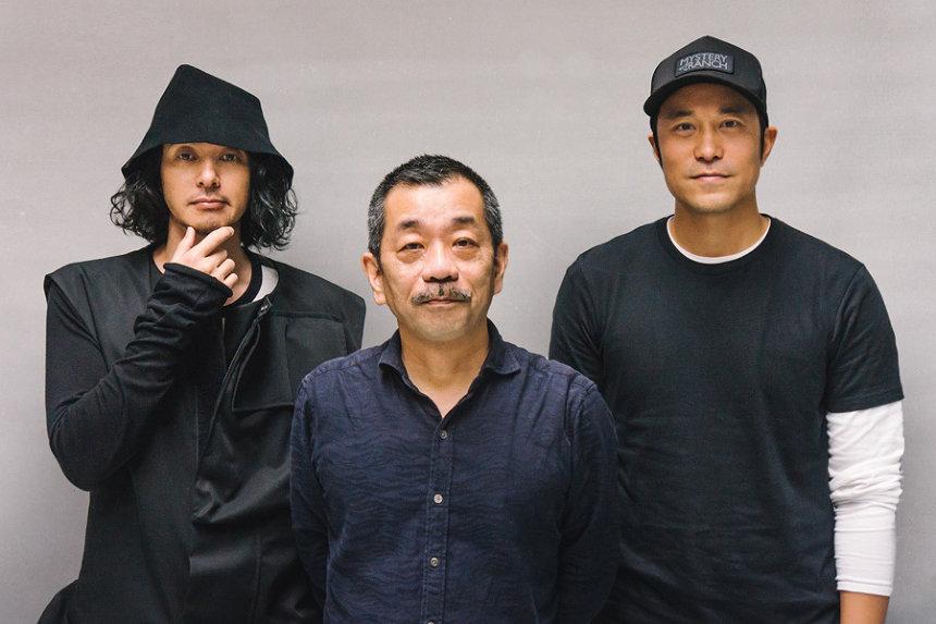 左からオダギリジョー、松岡錠司、ジョセフ・チャン
