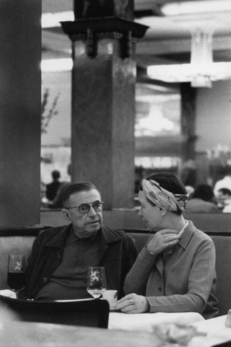 Paris. Jean-Paul SARTRE and Simone de BEAUVOIR, 1969/ ©Bruno Barbey/Magnum Photos