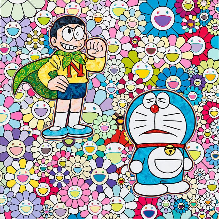 村上隆作品 ©2019 Takashi Murakami/Kaikai Kiki Co., Ltd. All Rights Reserved.©Fujiko-Pro Courtesy Perrotin
