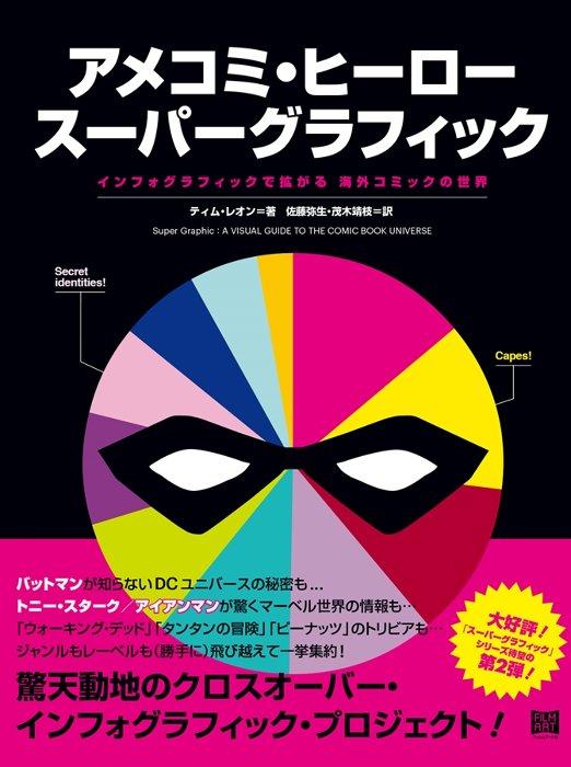 『アメコミ・ヒーロー スーパーグラフィック インフォグラフィックで拡がる 海外コミックの世界』表紙
