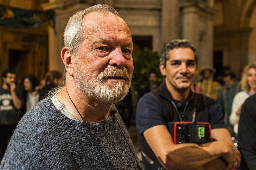 『テリー・ギリアムのドン・キホーテ』メイキングカット ©2017 Tornasol Films, Carisco Producciones AIE, Kinology, Entre Chien et Loup, Ukbar Filmes, El Hombre Que Mató a Don Quijote A.I.E., Tornasol SLU