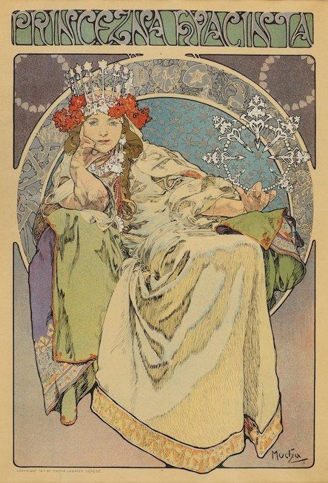 アルフォンス・ミュシャ ポスター『ヒヤシンス姫』1911年