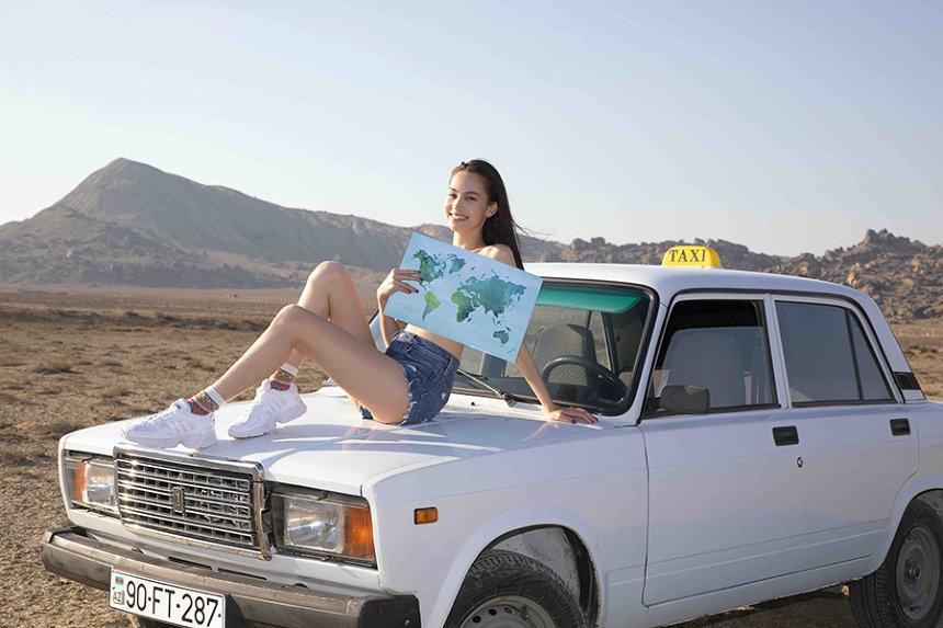 『ブラを捨て旅に出よう~水原希子の世界一周ひとり旅~』メインビジュアル ©Hulu Japan