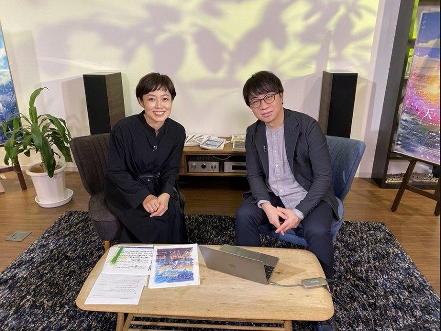 左から有働由美子、新海誠監督©2019「天気の子」製作委員会