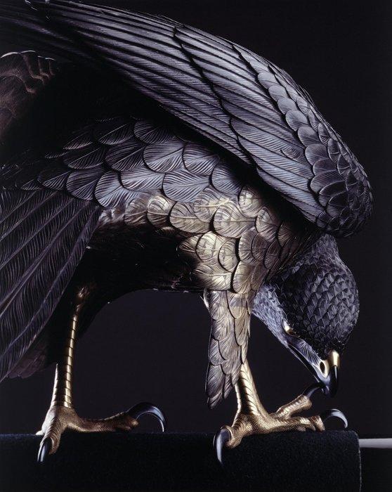 鈴木長吉『十二の鷹』1893年(部分) 東京国立近代美術館蔵