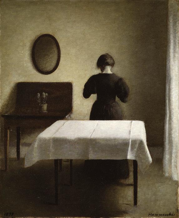 ヴィルヘルム・ハマスホイ『室内』1898年 スウェーデン国立美術館蔵 Nationalmuseum,Stockholm / Photo: Nationalmuseum