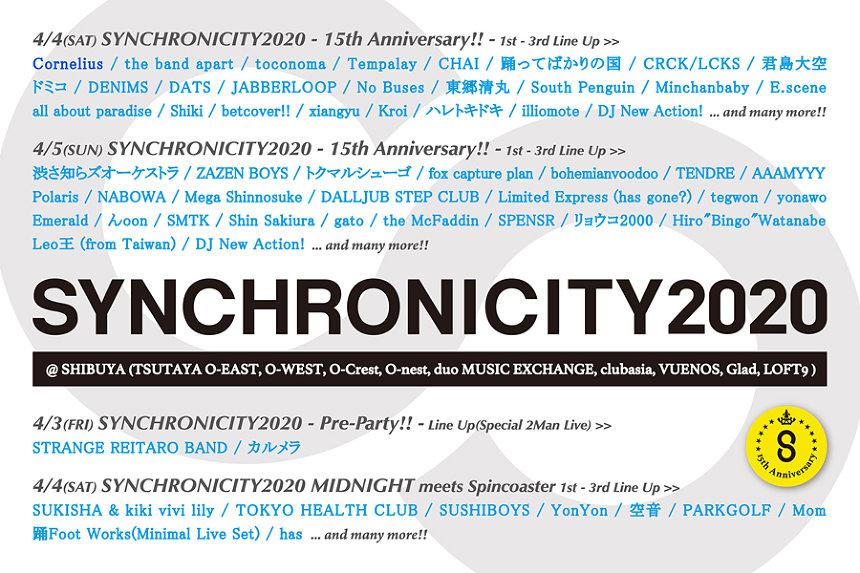 『SYNCHRONICITY2020』出演者一覧