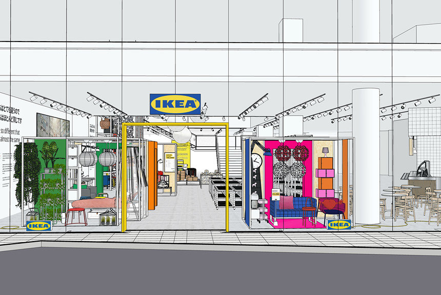 IKEA原宿が原宿駅前「WITH HARAJUKU」内に4月25日オープン。カフェも併設