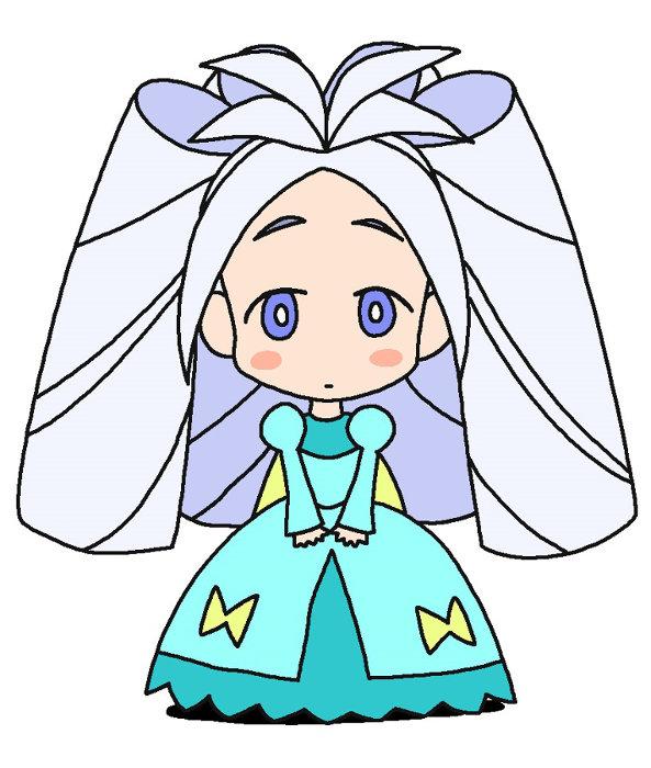 ラクガキングダムの姫キャラクタービジュアル ©臼井儀人/双葉社・シンエイ・テレビ朝日・ADK 2020