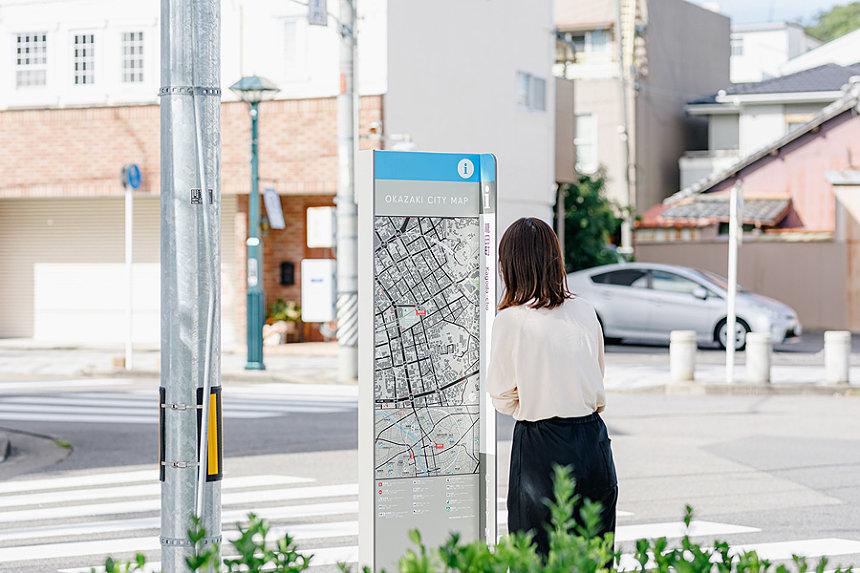 岡崎市 OKAZAKI CITY MAP(2018)サイン計画 Photo Yuya Yoshikawa