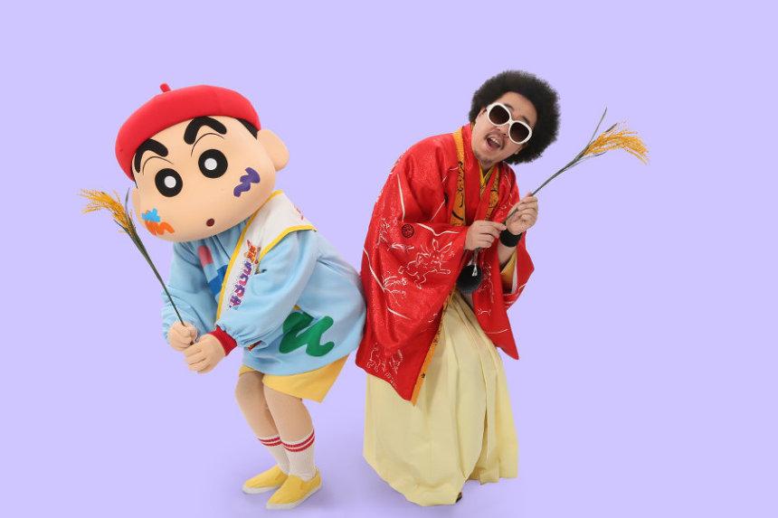 野原しんのすけとレキシ ©臼井儀人/双葉社・シンエイ・テレビ朝日・ADK 2020