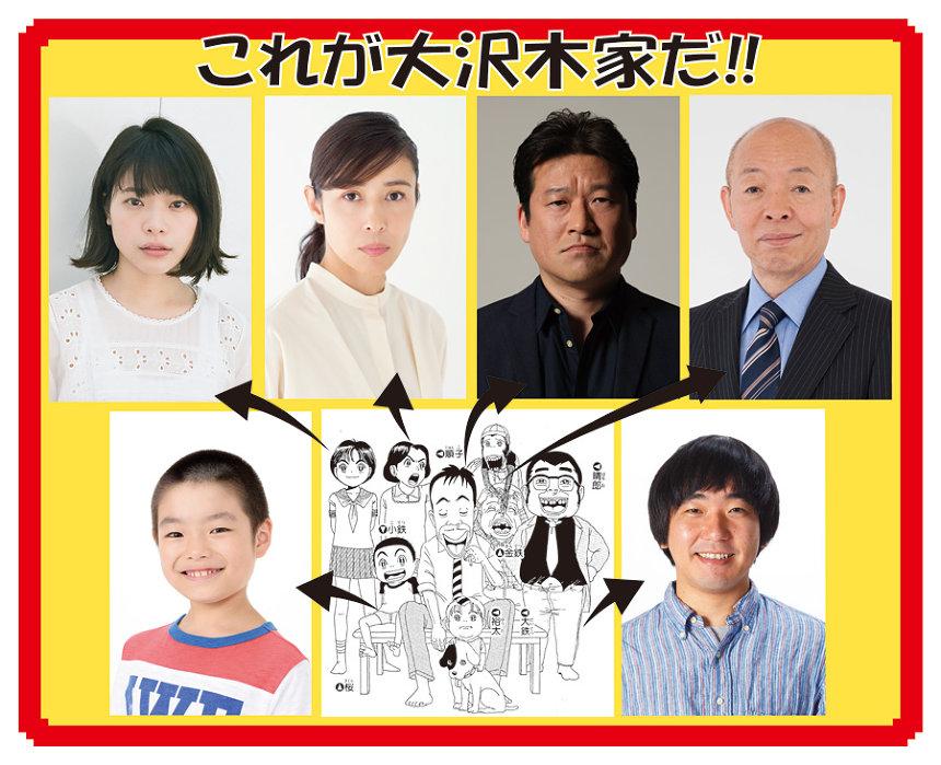 『浦安鉄筋家族』キャスト一覧 ©浜岡賢次(秋田書店)1993
