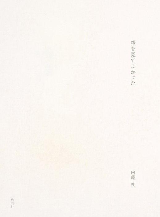 内藤礼『空を見てよかった』表紙