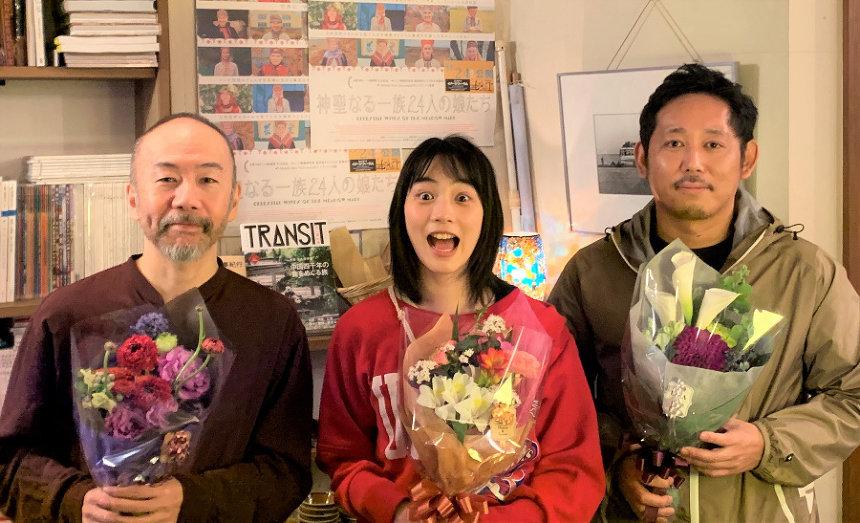 左から塚本晋也、のん、入江悠監督