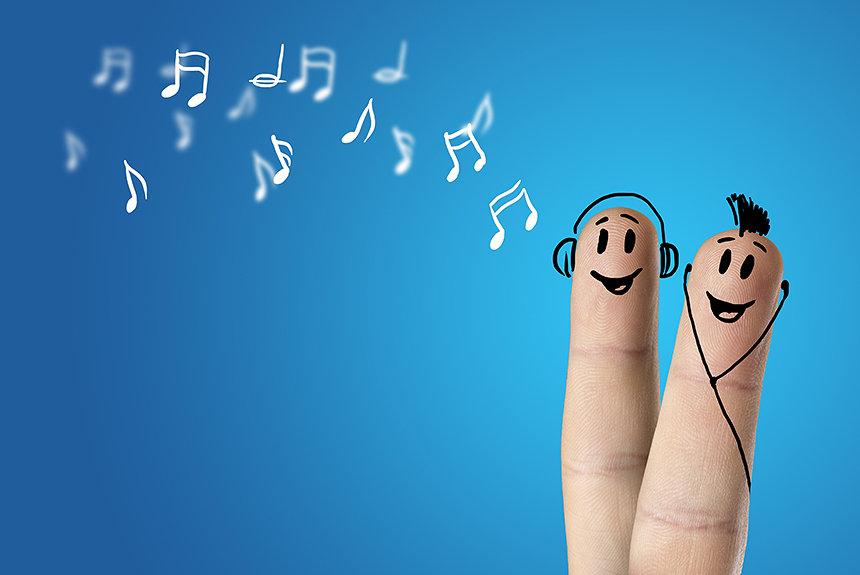 指に装着してビートを刻む音楽演奏ガジェット『Music Fingers』