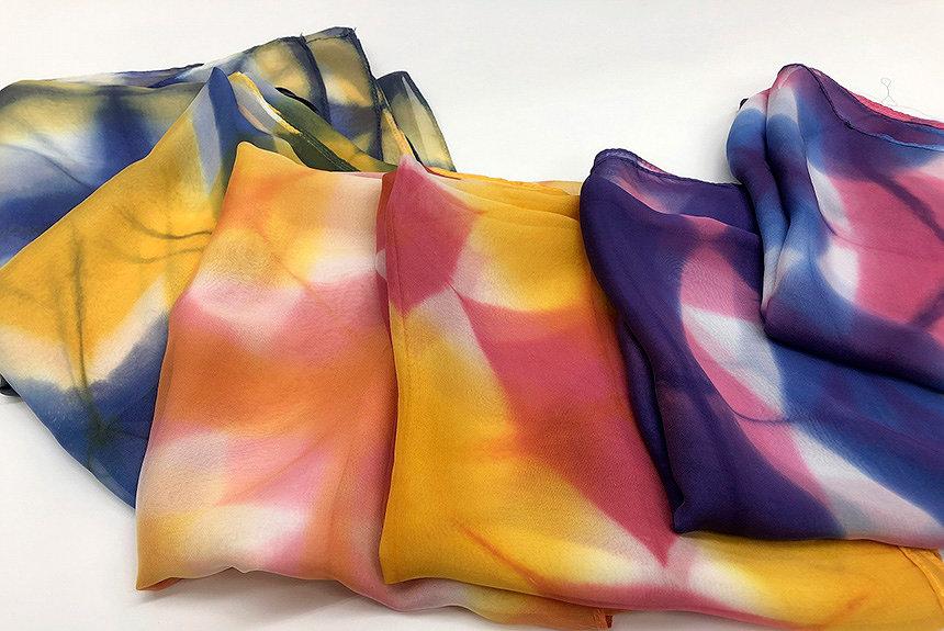 京の絞り染めが自宅で楽しめるキット発売。プロがリモートで完成までサポート