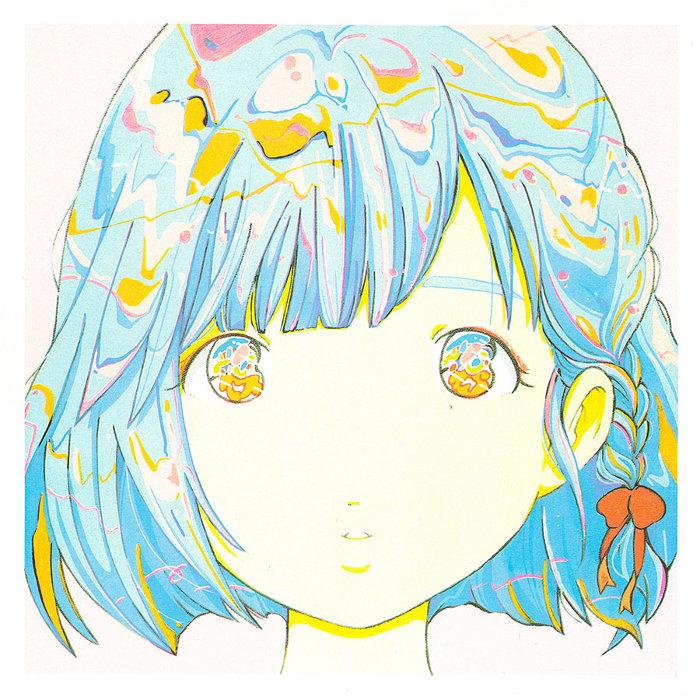 愛☆まどんな『彼女の顔が思い出せない』シリーズより(コミックス白亜の表紙絵)リソグラフプリント