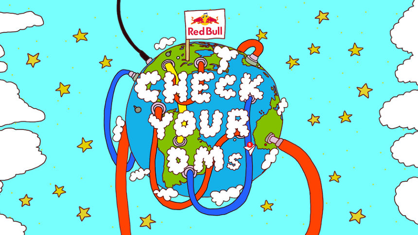 『Red Bull Check Your DMs』ロゴ