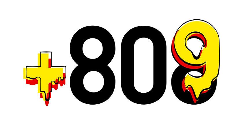 「+809」ロゴ