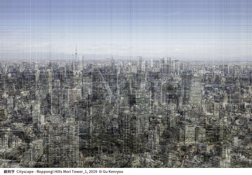 顧剣亨 Cityscape- Ropponhi Hills Mori Tower_1, 2019 © Gu Kenryou