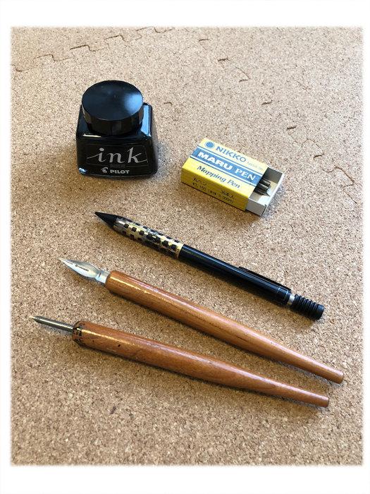 中村明日美子愛用の筆記具