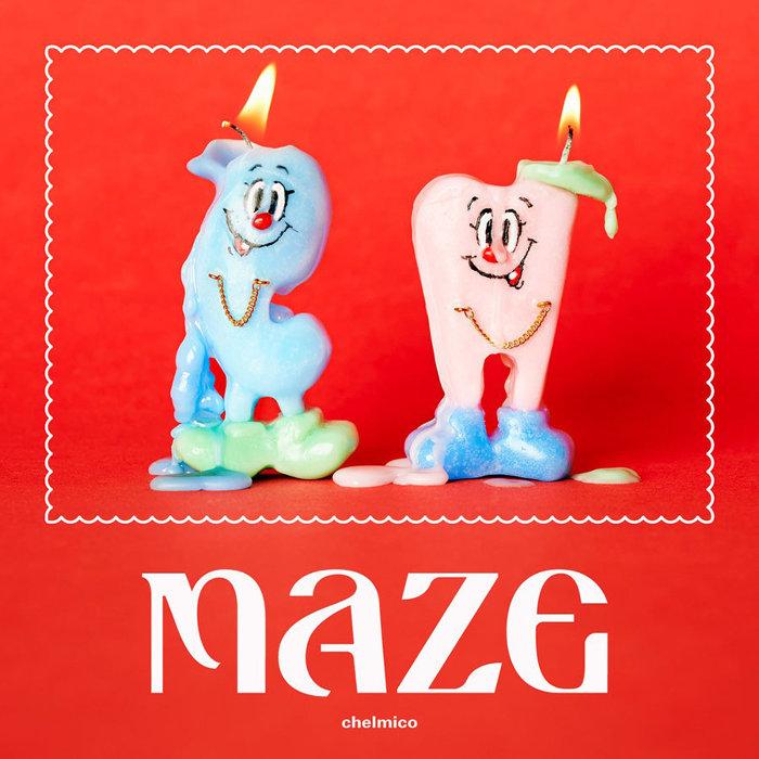 chelmico『maze』初回限定盤ジャケット