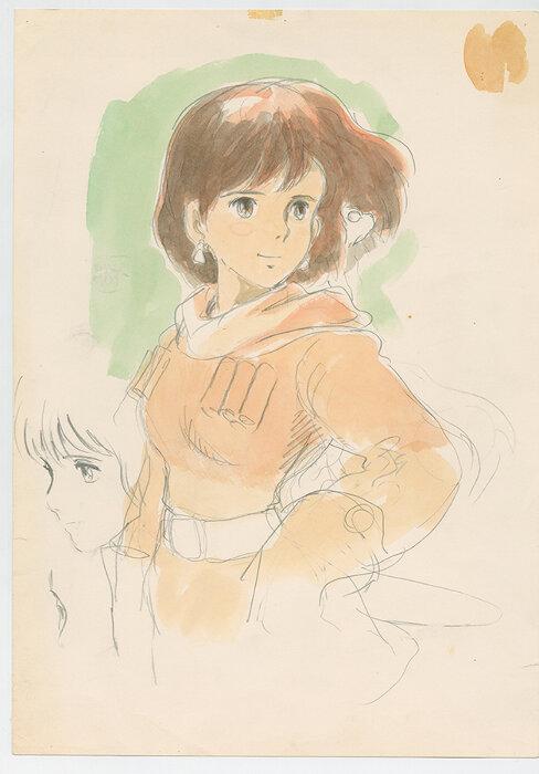 『風の谷のナウシカ』(1984)イメージボード 宮崎駿 ©1984 Studio Ghibli・H