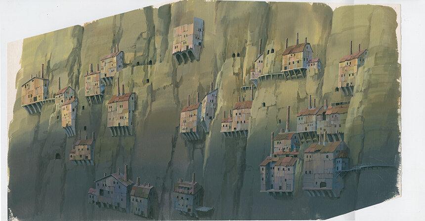 『天空の城ラピュタ』(1986)背景画 ©1986 Studio Ghibli