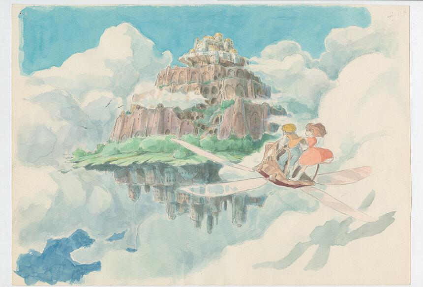 『天空の城ラピュタ』(1986)イメージボード 宮崎駿 ©1986 Studio Ghibli