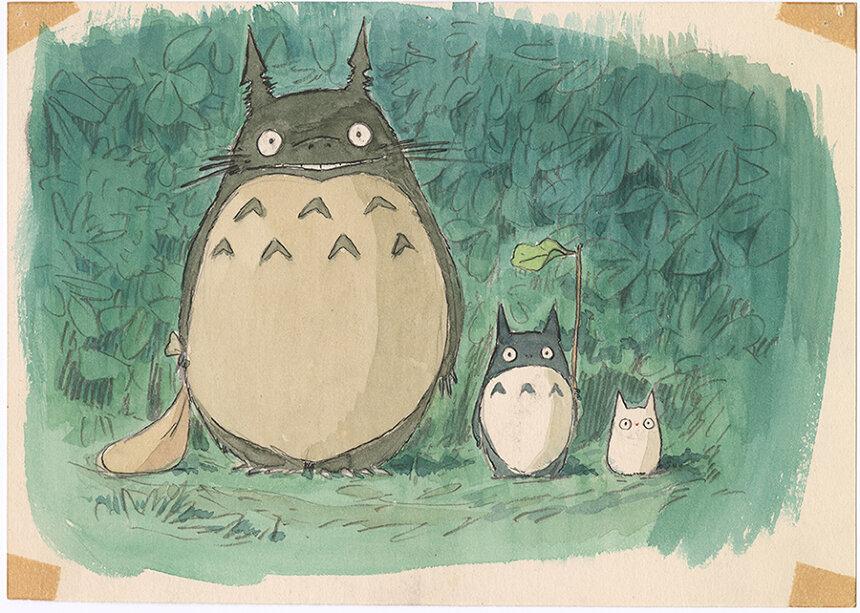 『となりのトトロ』(1988)イメージボード 宮崎駿 ©1988 Studio Ghibli