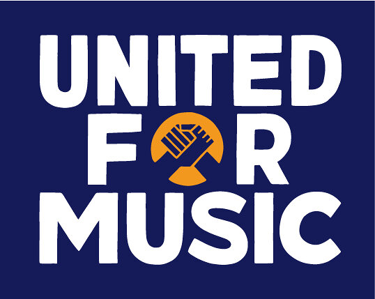 「UNITED FOR MUSIC」ロゴ