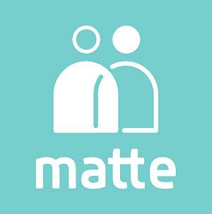 「matte」ロゴ