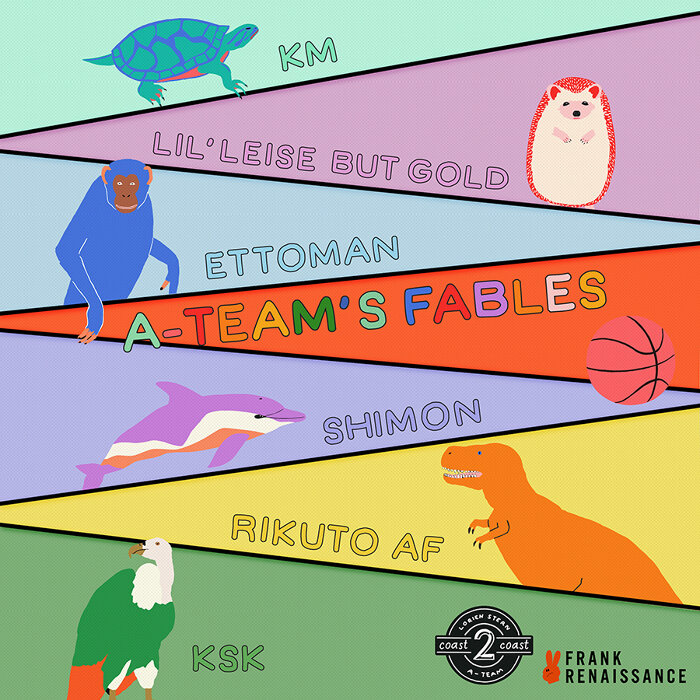 Rikuto AF、KM、Lil' Leise But Gold、Osteoleuco、Ettoman『A-Team's Fables』ジャケット