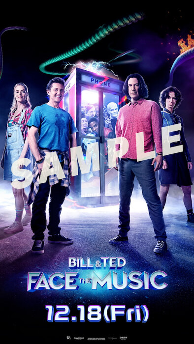 『ビルとテッドの時空旅行 音楽で世界を救え!』特製スマートフォン壁紙サンプル © 2020 Bill & Ted FTM, LLC. All rights reserved.