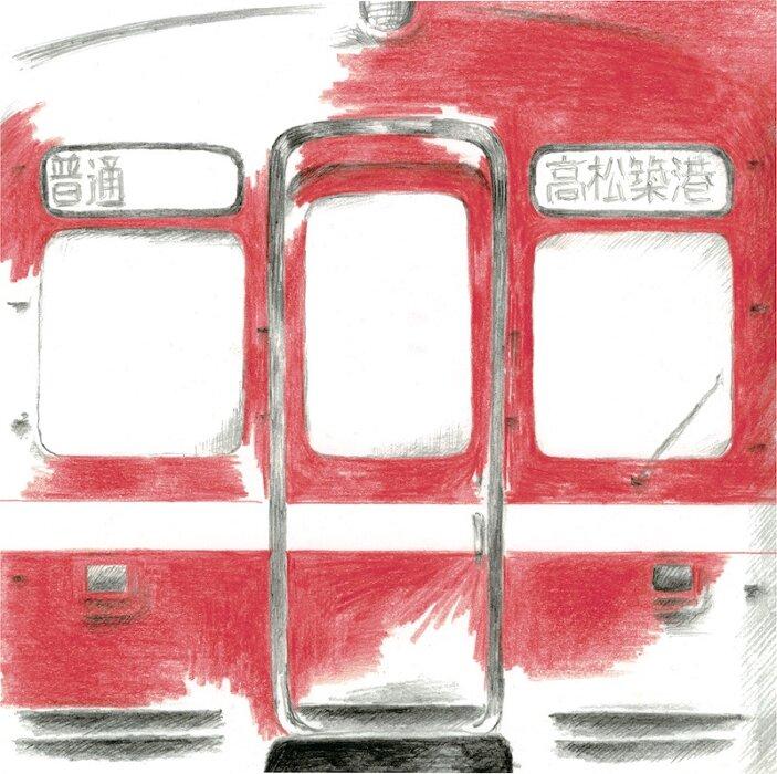 くるり『コトコトことでん / 赤い電車(ver. 追憶の赤い電車)』ジャケット裏