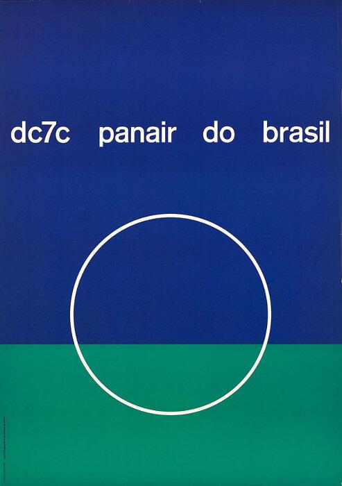 メアリー・ヴィエイラ『パンエア・ド・ブラジル航空 DC7C機/パンエア・ド・ブラジル』1957年 ©Isisuf. Istituto internazionale di studi sul futurismo - Archivio Mary Vieira