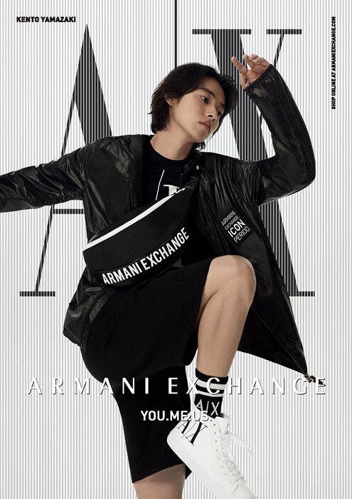 A|X アルマーニ エクスチェンジ2021年春夏広告ビジュアル
