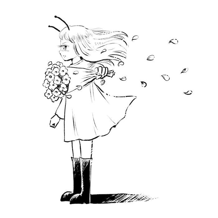 爪切男『働きアリに花束を』表紙(イラスト:崇山祟)