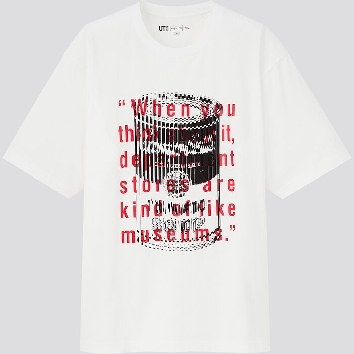 「Andy Warhol × Kosuke Kawamura UT」メンズTシャツ ©/®/™ The Andy Warhol Foundation for the Visual Arts, Inc.  ©Kosuke Kawamura Trademarks Licensed By Campbell Soup Company. All Rights Reserved.