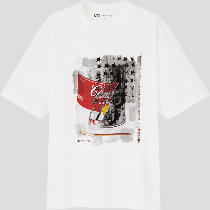 「Andy Warhol × Kosuke Kawamura UT」メンズTシャツ ©/®/™ The Andy Warhol Foundation for the Visual Arts, Inc.  ©Kosuke Kawamura Trademarks Licensed By Campbell Soup Company. All Rights Reserved. Marilyn Monroe™; Rights of Publicity and Persona Rights: The Estate of Marilyn Monroe, LLC.