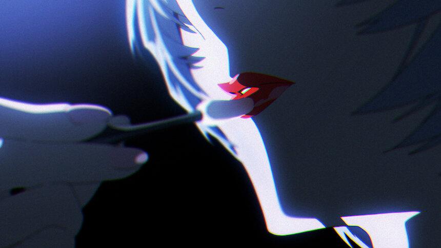 『綾波レイ、はじめての口紅、その後』より ©khara