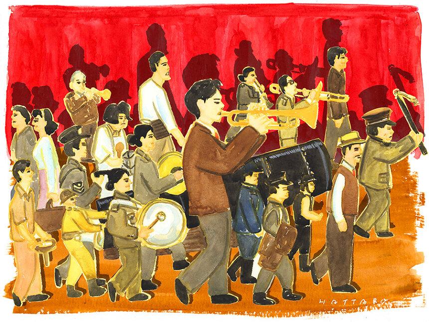 信濃八太郎イラスト ©2020「きまじめ楽隊のぼんやり戦争」フィルムプロジェクト
